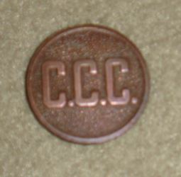 Civilian Conservation Corps Uniform Button