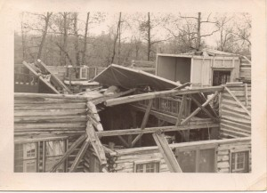 Tornado damage to The Country Home in 1940.