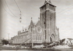 St. Patrick's Church Galveston during the Island Grade Raising.